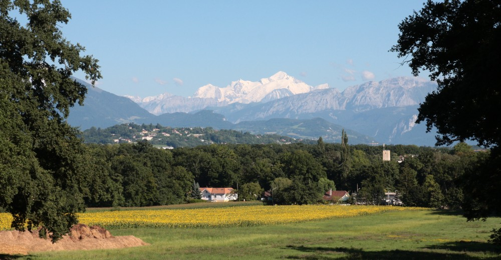 Vue du Mont-Blanc